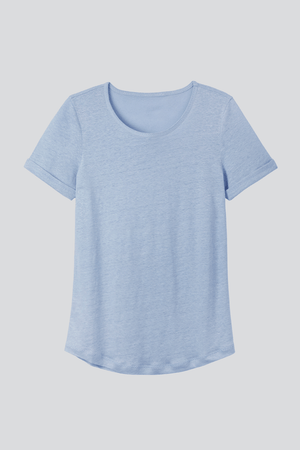 Linen T-shirt Light Weight Short Sleeve Linen T-Shirt - High Quality Linen T-Shirt - Flattering Short Sleeve T-Shirt - Blue Linen T-Shirt