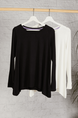 High Quality Long Sleeve A-Line Top - Soft A-Line Top - Flattering Long Sleeve A-Line Top - Loose Fit A-Line Top