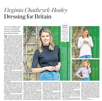 Lavender Hill Clothing in the Telegraph