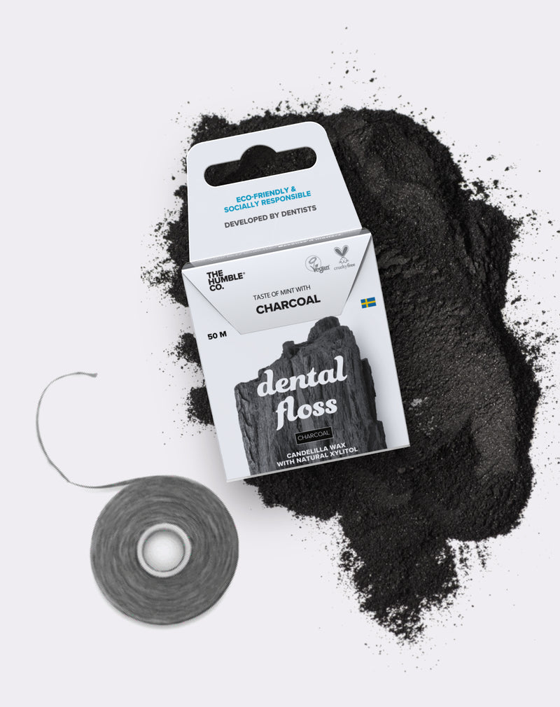 Fio Dental Orgânico Natural Charcoal (Carvão) The Humble 50m