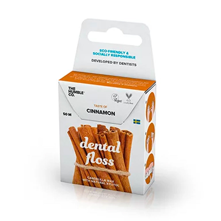 Fio Dental Orgânico Natural Cinnamon (Canela) The Humble 50m