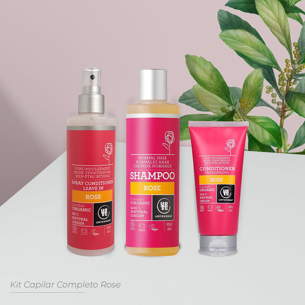 KIT CAPILAR COMPLETO ROSE NUTRITIVO- SHAMPOO + CONDICIONADOR + LEAVE IN
