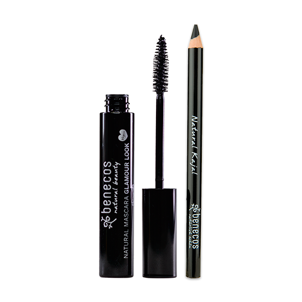 Kit Olho – Máscara para Cílios Orgânica & Natural Glamour Look Ultimate Black + Kajal