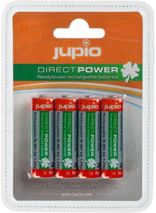 AAA NIMH X 4 JUPIO RECHARGEABLE BATTERIES