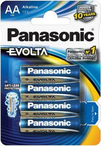 AA 4 PACK PANASONIC EVOLTA BATTERIES