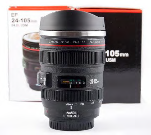 CANON 24-105MM LENS COFFEE CUP
