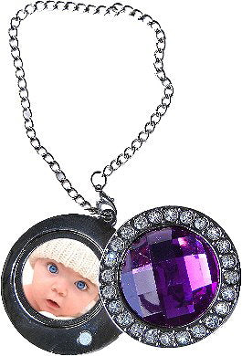 Diamond Studded Purple Round Purse Hanger