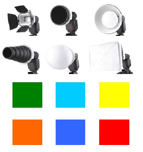 FALCON EYES 7PCS FLASH DIFFUSER KIT