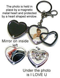 Clear Glass Heart Key Ring