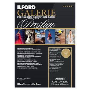 "Ilford Galerie Smooth Cotton Rag 310gsm 5""x7"" 50 Sheets"