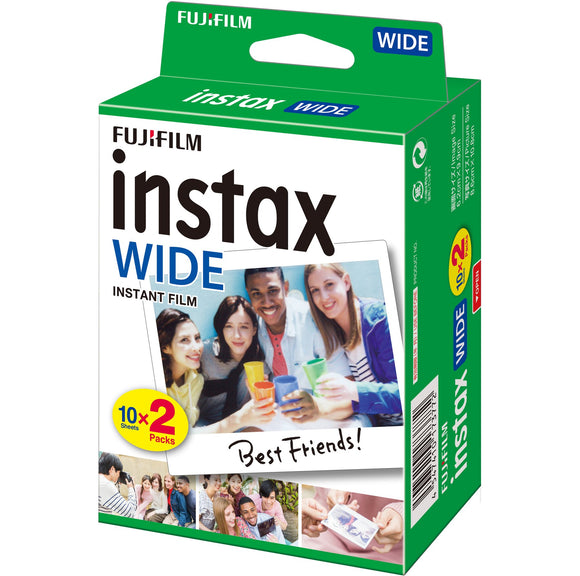 INSTAX WIDE FUJI INSTANT FILM - PACK OF 20 SHOTS