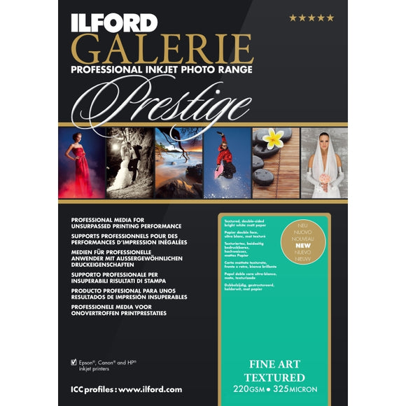 Ilford Galerie Fine Art Textured 220gsm Inkjet Paper