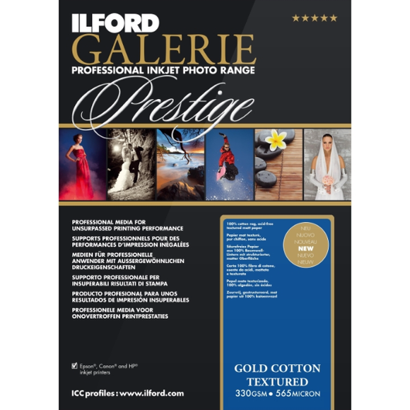 Ilford Galerie Gold Cotton Textured 330gsm Inkjet Paper
