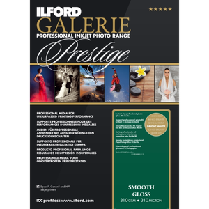 Ilford Galerie Prestige Smooth Gloss 310gsm A2 25 Sheet