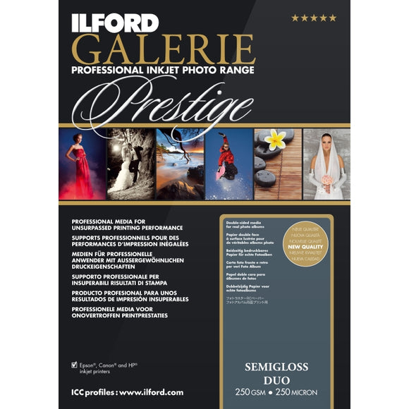 Ilford Galerie Semi-Gloss Duo 250gsm Inkjet Paper