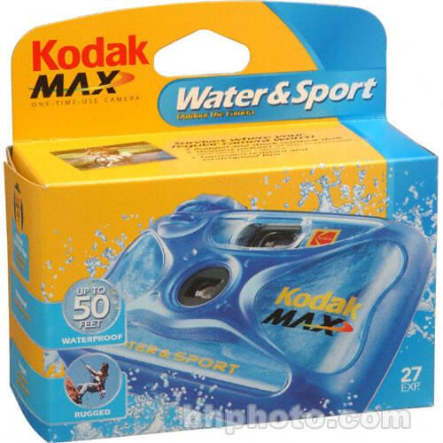 KODAK WATER SPORT 27 EXPOSURE SINGLE USE CAMERA