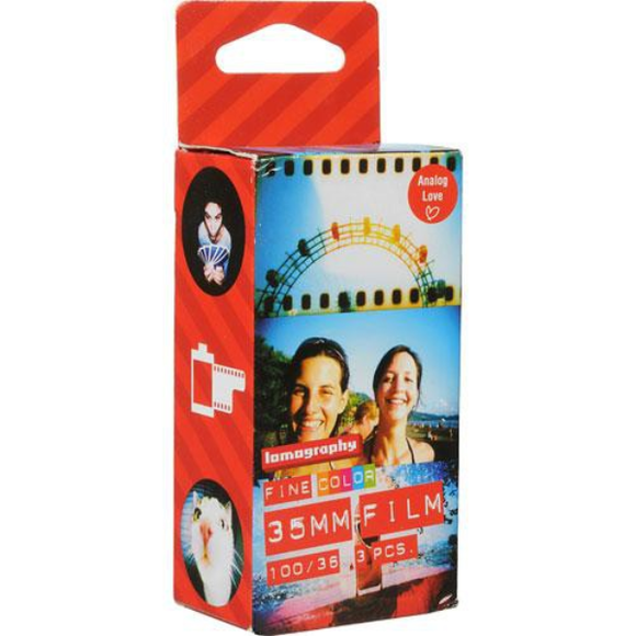 Lomography 100 Colour Film (35mm, 36 Exp. 3 Pack)