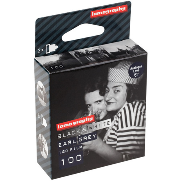 Lomography Earl Grey 100 B&W Film (120 Roll, 3 Pack)
