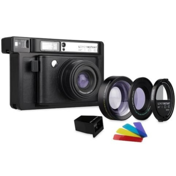 Lomography Lomo'Instant Wide Camera, 2 Lenses & Splitzer