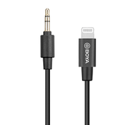 BOYA BY-K1 3.5mm Male TRRS to Male Lightning Adapter Cable 20cm Length
