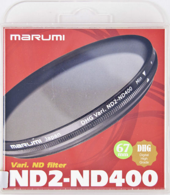 67MM ND VARIABLE ND2-ND400 DHG FILTER MARUMI
