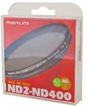 58MM ND VARIABLE ND2-ND400 DHG FILTER MARUMI
