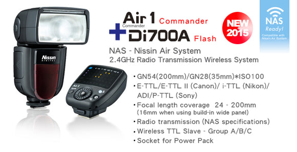 Nissin Di700 Flash+ Air1 Commander For Canon