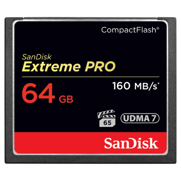 MEMORY CARD COMPACT FLASH 64G SANDISK EXTREME PRO