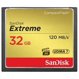 32GB COMPACT FLASH SANDISK EXTREME MEMORY CARD