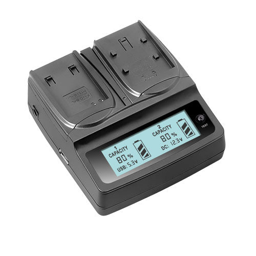 LVSUN 201 Twin Battery charger for Sony Batteries
