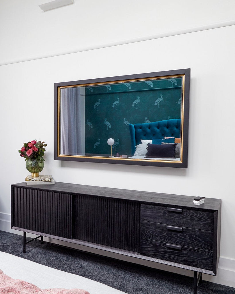 A TV-Mirror for Harry and Tash's Bold 1920s Master Bedroom on The Block 2020