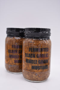 Fermented Black Garlic & Honey Whole Grain Mustard