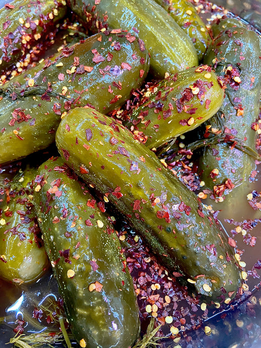 Carolina Reaper Spicy Dill Pickles - Another Mother Fermentorium