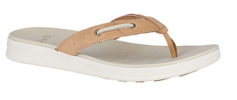 Sperry-Women's-Adriatic Thong Skip Lace Lthr-Linen-S19
