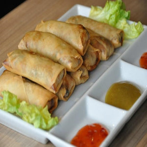 (ELEGANCE) (PRE-COOKED) VEGETABLES SPRING ROLL, 10PC