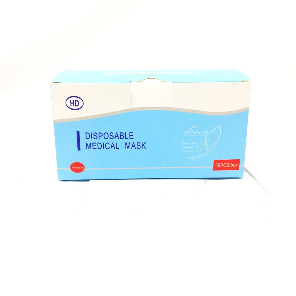 ASTM Level I Surgical Disposable Masks, 3 Layers, 50 pcs ASTM等級1醫用一次性口罩,三層, 50片
