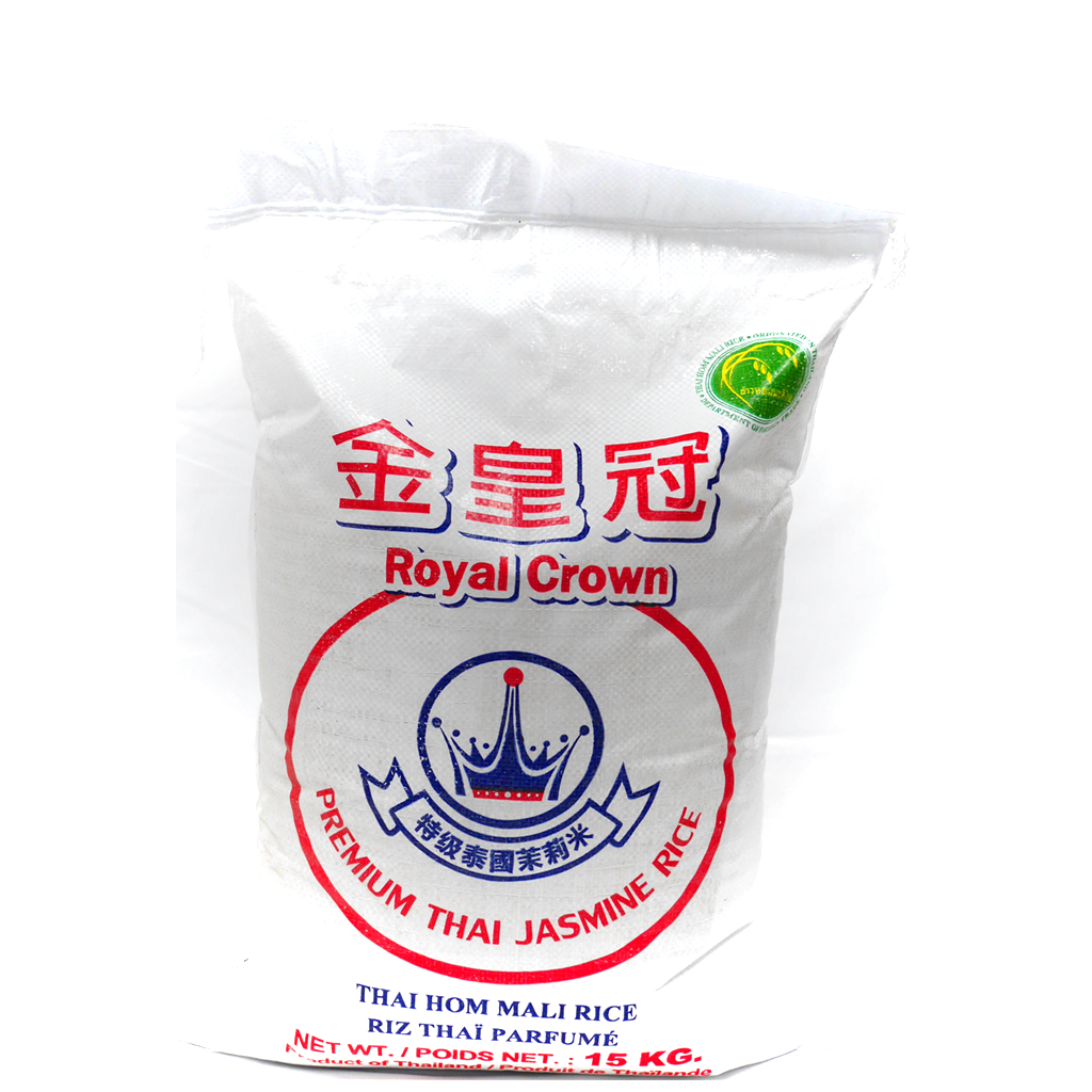 (ROYAL-CROWN) PREMIUM THAI JASMINE RICE 一級金皇冠優質泰國香米, 15kgx1