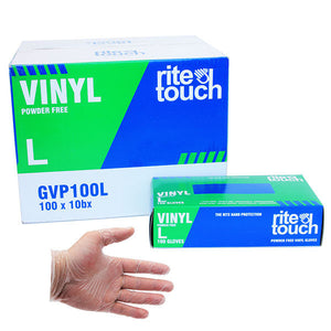 (BULK) (RITETOUCH) VINYL GLOVES, POWDER FREE 無粉片鴨手套, 100pcx10