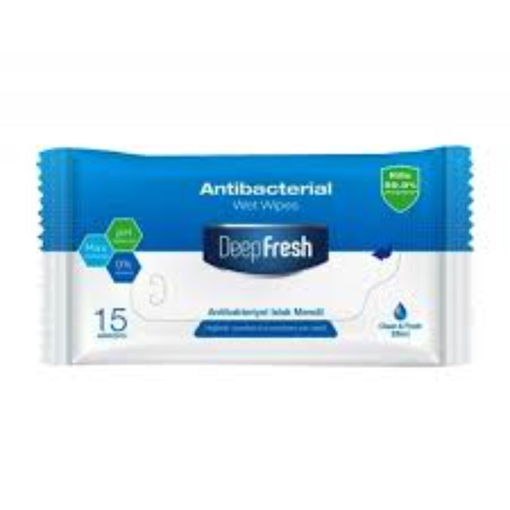 Deepfresh Antibacterial Wet Wipes 15 Pieces