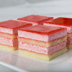 (BULK) (KING'S PASTRY) RASPBERRY MOUSSE CAKE, 1box