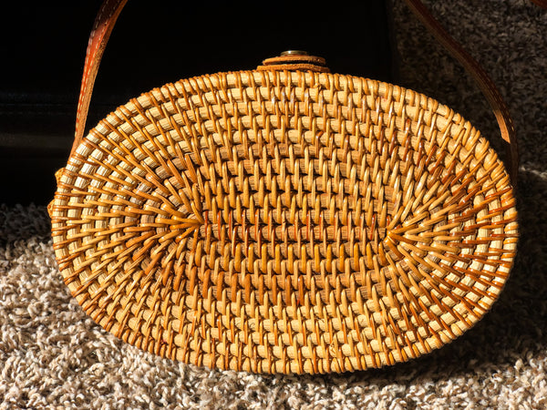 Oval Wicker Bag
