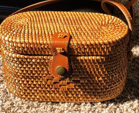 Box Wicker Bag
