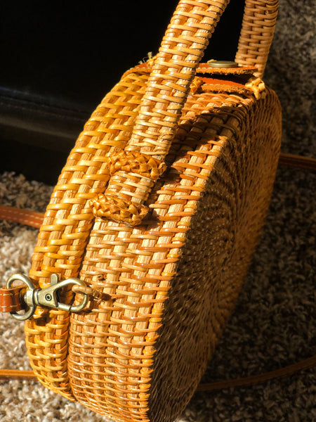 Round 4 Wicker Bag