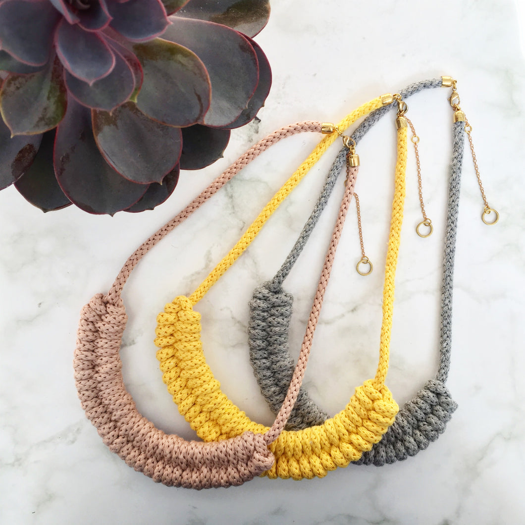 Macrame Cord Necklace