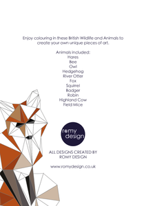 British Wildlife and Animals Colouring Book