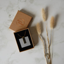 Load image into Gallery viewer, Light Grey Square Necklace