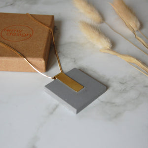 Light Grey Square Necklace