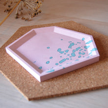 Load image into Gallery viewer, Pink & Mint Angular Tray #2