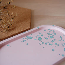 Load image into Gallery viewer, Pink & Mint Oval Tray