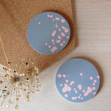 Load image into Gallery viewer, Grey & Pink Coaster Set